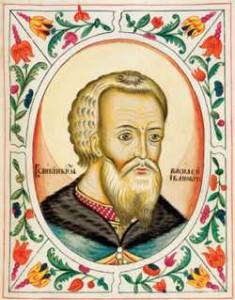 Вел. кн. Василий Иоаннович III. Миниатюра царского титулярника, 1672 г.